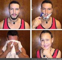 golenie zarostu, brody